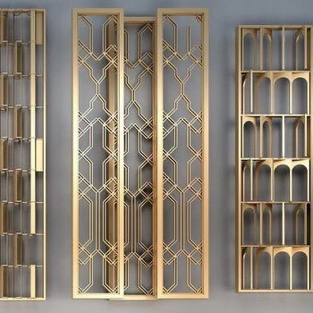 New Chinese StyleScreen Partition 3d model