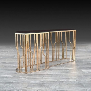 Lorensia Large Rose Gold Console